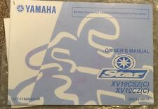 2009 Yamaha Star XV19CSZ(C) XV19CZ(C) Owner's Manual OEM 2009 Book
