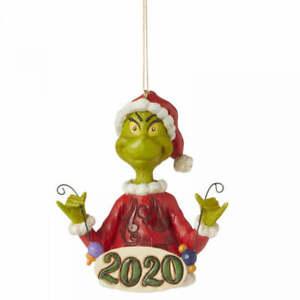 Jim Shore Dr Seuss Grinch 2020 Hanging Christmas Tree Decoration Figurine Gift