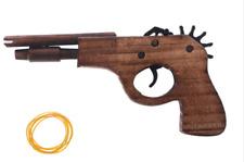 Fun Wooden Rubber Band Hand Gun