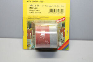 Noch 34072 Cycle Path 9mm Red And Gray N Gauge Boxed