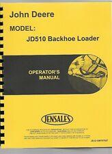John Deere 510 Tractor Loader Backhoe Owners Operators Manual Tlb Sn 360566 Up