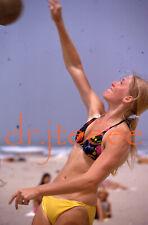 1974 Laurel Brassey SAN DIEGO STATE 35mm Beach Volleyball Slide