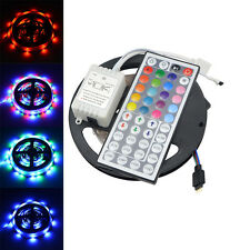 16.4ft RGB 2835 SMD 300 LED Rope Tape Lights Non-Waterproof DC12V+44 Key Remote