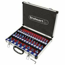Stalwart 75 St6041 Router Bit Set 35 Piece Kit With Shank And Aluminum