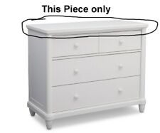 Simmons Kids-Delta Children Belmont Dresser/Changing Table, White Replacemt Top