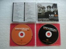 U2  - New release November 06/ U2 Singles- Rare THAILAND 2 CD PROMO SET
