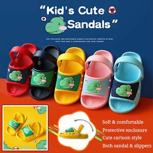 Kids Beach Slippers Slider Sandals Boy Girls Clogs Non-Slip Dinosaur Water Shoes