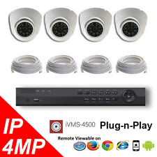 4CH NVR PoE 4K OEM Hikvision LTS Security Surveillance 4MP IP Camera Kit Package