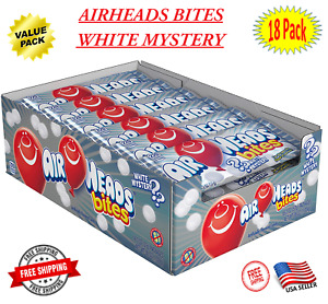 Airheads Bites Candy, White Mystery, Party, Bulk, 2 Ounce Peg Bag 18 Count