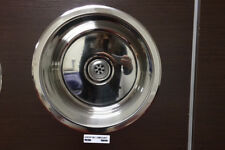 NEW Chrome round kitchen/laundry sink. Single, drop in. 460mm diameter.