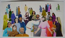 Gouache Aquarelle Scène Religieuse Jésus Christ PIERRE-HENRI BOUSSARD Sard #12