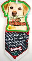 Pet Christmas Bandana  Deck The Dog One Size  New
