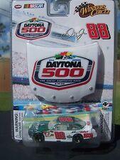 NEW 2009 DALE JR  AMP STOCK CAR AND 51ST DAYTONA 500 HOOD 1:64 SCALE