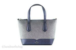 Kate Spade Lola Small Leather Glitter Satchel Handbag Crossbody Tote Purse