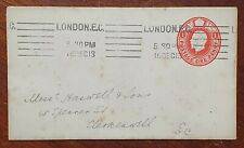1913 Prepaid Cover to Haswell & Sons, 48 Spencer Street, Clerkenwell