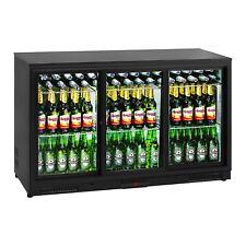 Getränkekühlschrank Flaschenkühlschrank Gastro Kühlschrank Glastür 323L Schwarz