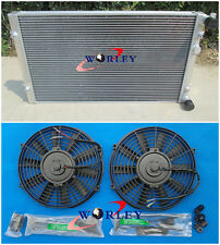 Aluminum Radiator + FANS for VW Golf MK4 1.8T 1.9/2.0/2.8 Dual Pass Manual 99-05