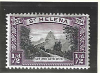 St. Helena Stamp Scott #101, Used Heavily Hinged