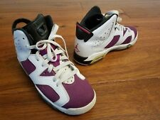 Nike Air Jordan 6 Retro Boy's Girl's Purple White High Top Sneakers Sz 5.5 Youth