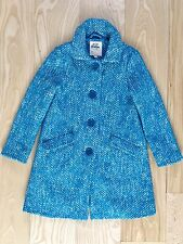 Mini Boden Girls Boucle tweed coat wool Cotton Blue Gorgeous 9-10 Years EUC