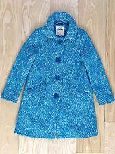 MINI BODEN Girls Boucle Tweed Coat Wool Cotton Blue GORGEOUS 9-10 Years EUC