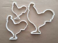 Chicken Cockerel Rooster Shape Cookie Cutter Dough Biscuit Pastry Fondant Sharp