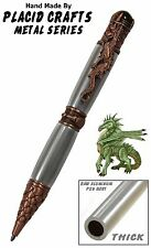 Hand Turned Dragon Pen With Aluminum Pen Body & Antique Copper Hardware / #124