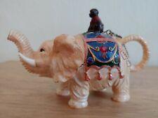 Nini Elephant Teapot Miniature Trinket Box Hand Painted