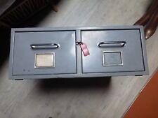 mobilier industriel meuble métal classeur à 2 tiroirs ferme à clef