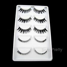 5 Paare falsche Wimpern künstliche Wimpern Natural Long False Eyelash #HW-1
