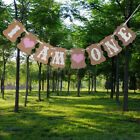 Bunting Banner for 1ST Birthday Party Baby Girl Pink I Am One Beauty Decoration