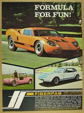 1968 Fiberfab AVENGER GT-12X orange vw kit car photo vintage print Ad