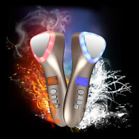 Portable LED Hot Cold Hammer Anti Aging Whiten Skin Massager Face Beauty Device