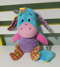 EEYORE BABY TOY RATTLE AND SQUEAKS WINNIE THE POOH CHARACTER 18CM