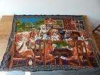 """Vintage Tapestry Dogs Playing Poker Wall Hanging 51""""x38"""" For The Man Cave"""