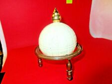 Avon vintage collectible white globe on stand bottle Tribute after shave