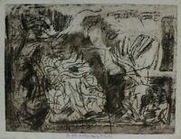 Rudolf Rothe Komposition verso dito Fragment Radierung  signiert  datiert 1969