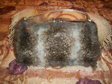 Samantha Thavasa Faux  Fur Handbag  EUC