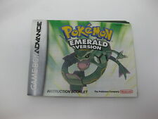 Manual ONLY Pokemon Emerald Version Nintendo GBA GameBoy Advance No Game