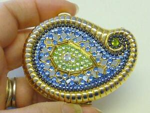Estee Lauder Compact Jeweled Rhinestone Paisley Lucidity Translucent Powder