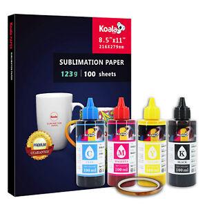 Koala Sublimation Paper 123g + 400ML Sublimation Ink for ALL Epson Cartridges
