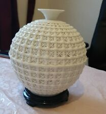 Hand made porcelain white vase