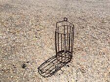 """Vintage Industrial Metal Cage 24"""" High Solid Metal"""