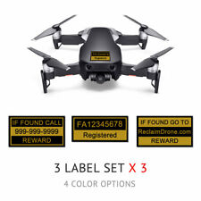 DJI Mavic Air - Onyx Black - Drone Labels, FAA UAS Registration and Phone Number