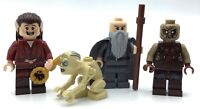 LEGO LOT OF 4 LORD OF THE RINGS MINIFIGURES MORDOR ORC GANDALF GOLLUM HOBBIT