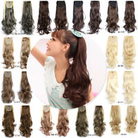 1PC Long Hair Ponytail Clip In Hair Extensions Wrap Around Pony Tail Hairpiece