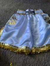 Phenom Boxeo Boxing Kickboxing Trunks Medium White/Gold 2