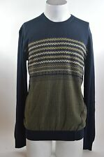 2015 NWT MENS VOLCOM UPSTAND NUTS SWEATER $60 M navy slim fit crew neck knit