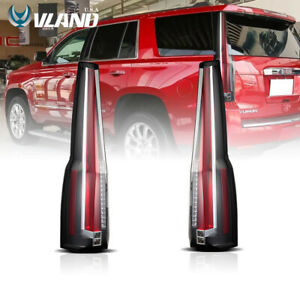VLAND Fits For 2015-2020 GMC Yukon Tail Lights LED Brake Cadillac Escalade Style
