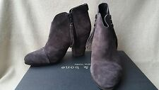 NIB Rag & Bone Margot Ankle Boot Booties 39 9 Asphalt Suede Grey Fringe Harrow